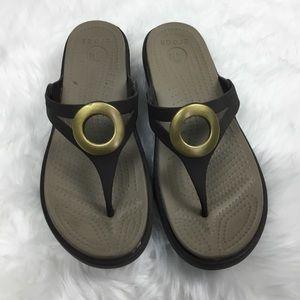 Croc brown Sanrah sandals 8